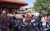 Auf dem Durbar-Sqare, Kathmandus Zentrum.