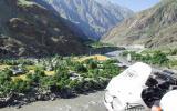 Afghanisches Dorf, nur zu Fuß zu erreichen. Oder mit Booten, aber die fahren hier nur nachts ;-)