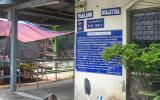 Unverkennbar: die malaiisch-thailändische Grenze.