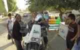 Wasserstand und Interviewpartner in Tadschikistan.