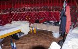 Unser Krankenlager in der Jurte -